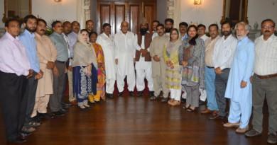 Governor Punjab welcomes JDHR delegation at the Governor's House