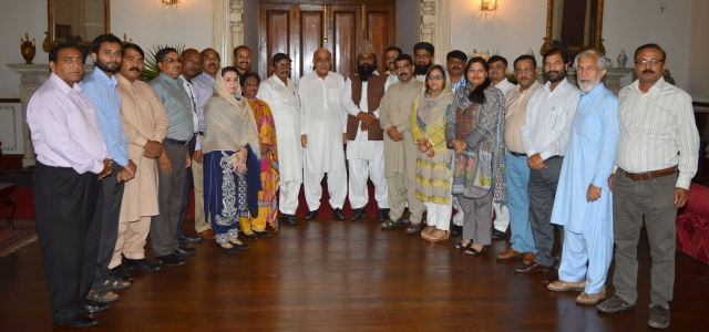 Governor Punjab welcomes JDHR delegation at the Governor's House