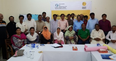 Report of Media Professionals' Training (Sindh-Hyderabad)